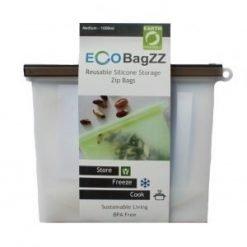 Eco Bagzz Reusable Silicone Bag Medium Clear