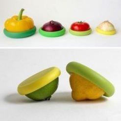 Food Huggers Silicone Round Food Keeper
