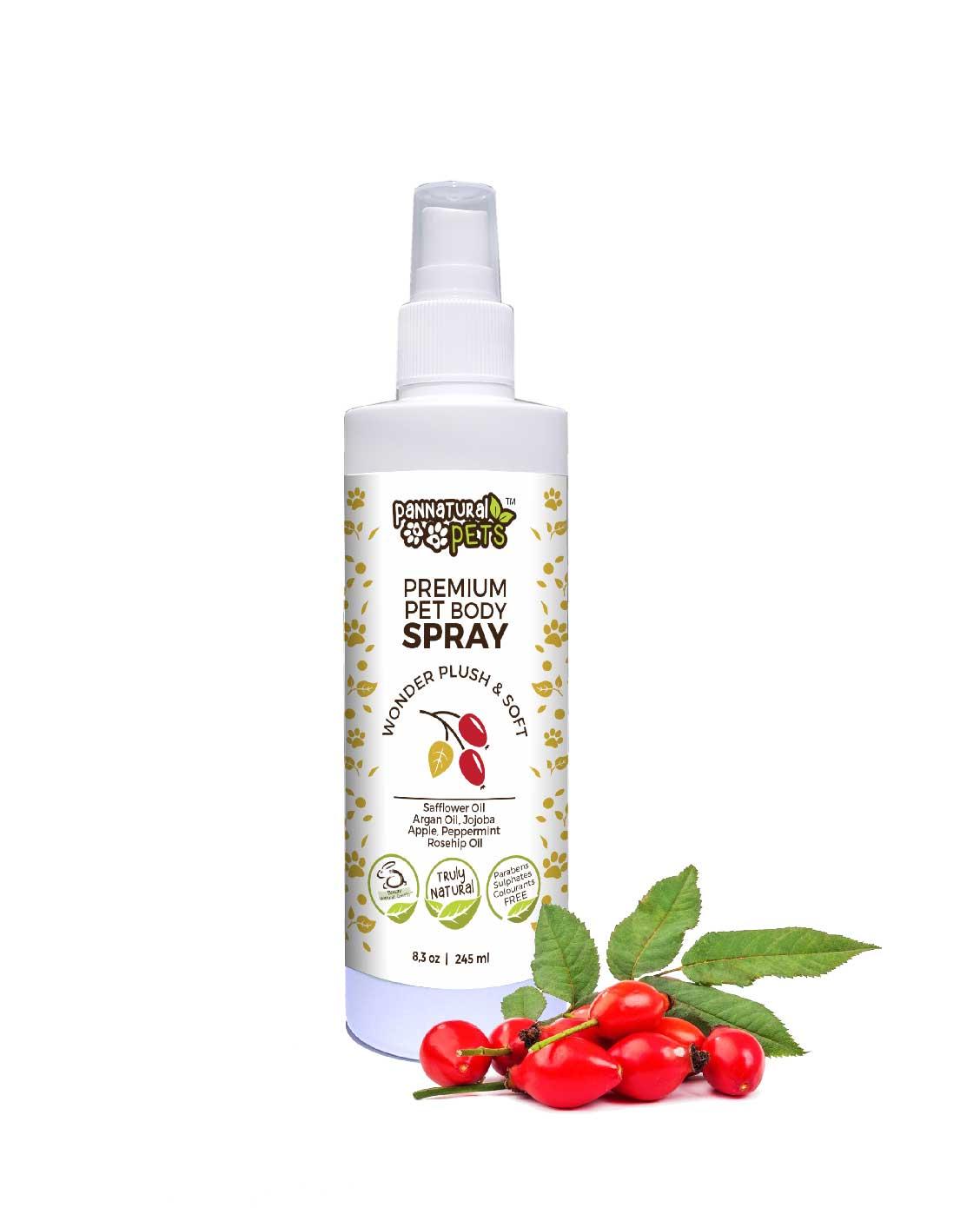 Premium Natural Pet Body Spray Wonder Plush & Soft
