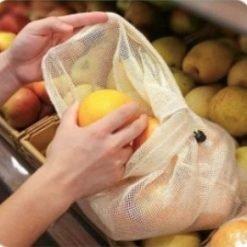 EcoBagZZ Reusable Cotton Produce Bag